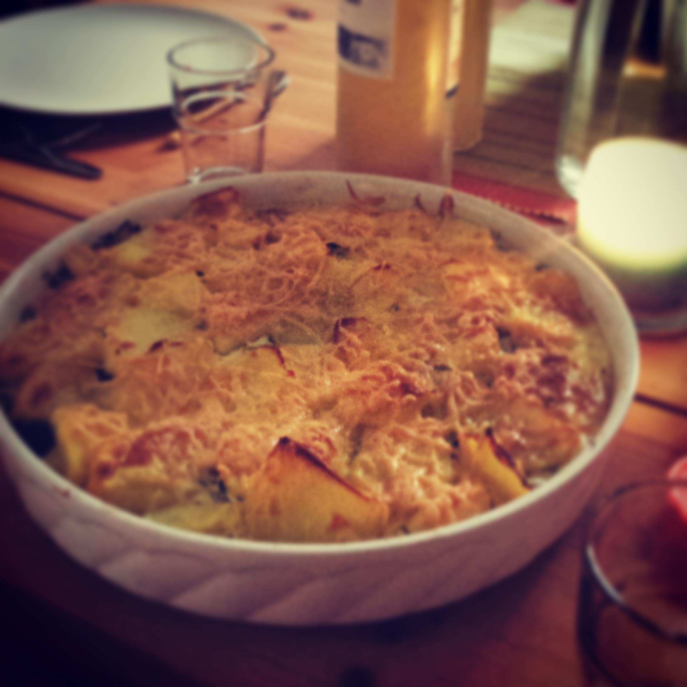 Kartoffel-Spinat-Gratin